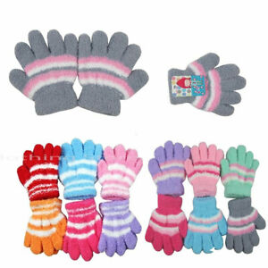 12 Pairs Baby Toddler Girl Mittens Fuzzy Cozy Warm Winter Gloves 0~3 years old