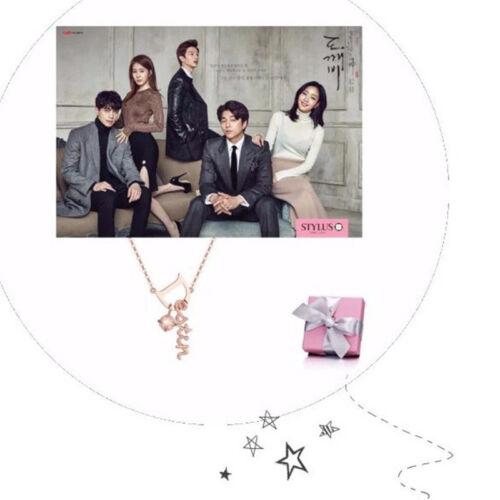 La Corée du drame gobelin Dokkaebi Dieu seul brillant D Pendentifs Cadeau Collier COS