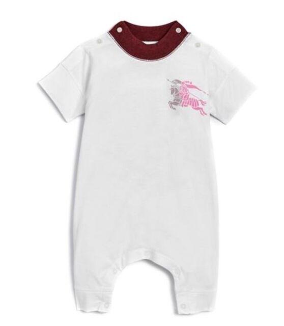 38b357d9c7c0 Burberry Children Girls  Randal Playsuit Baby Cotton Jumpsuit Size 3 6 9 M  baby