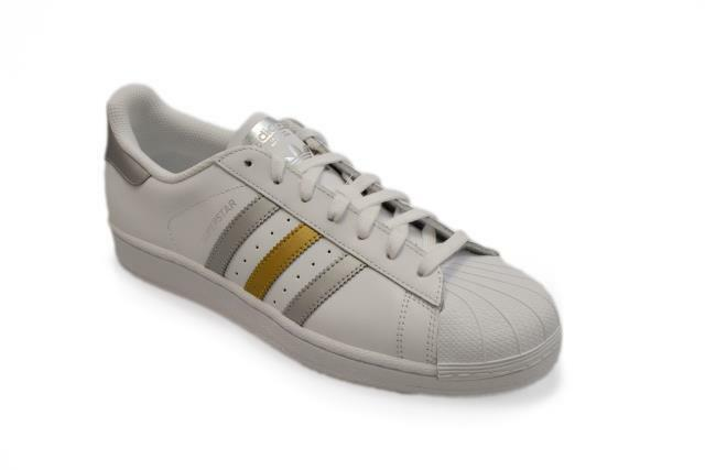 Uomo Adidas Superstar - BB4 882 Trainers - WEISS Gold Silver Trainers 882 b2d07f