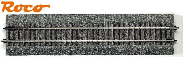 Roco H0 42510 Straight Track G1 with Bedding, Length 230 mm - New
