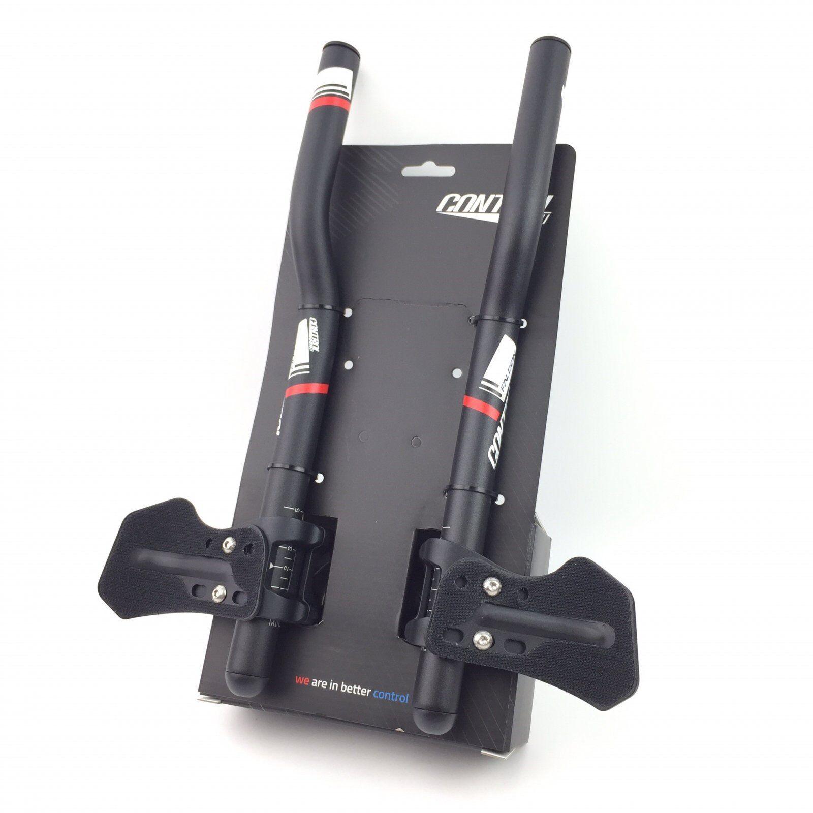 Controltech Falcon TTH15 Bike Adjustable S-Bend Clip-On 31.8mm TT Bar Handlebar