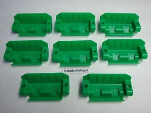 KNEX-Lot-8-FERRIS-WHEEL-SEATS-Set-of-8-Green-Chairs-Replacement-Parts-Pieces