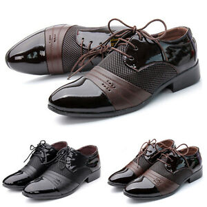 Herren Lederschuhe Business Braun Anzug Schuhe Halbschuhe