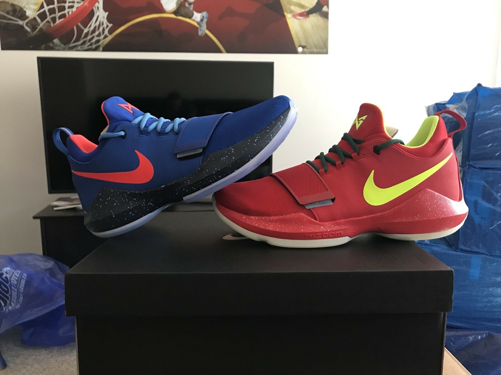 "Nike ""What The PG1"" Size 10 What The Kobe 8 ONLY 6 PAIRS MADE PG 1"