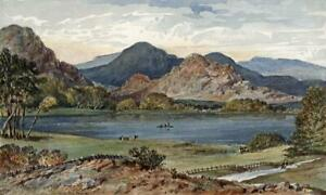 Image result for the lake district in 19th century painting