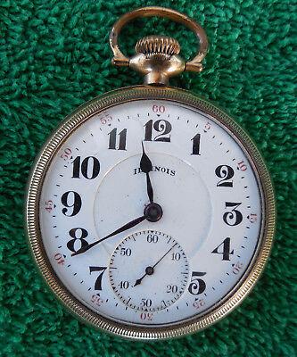 Illinois Grade 706 Model 9, 19j 16s 1920 Pocket Watch - Runs Great