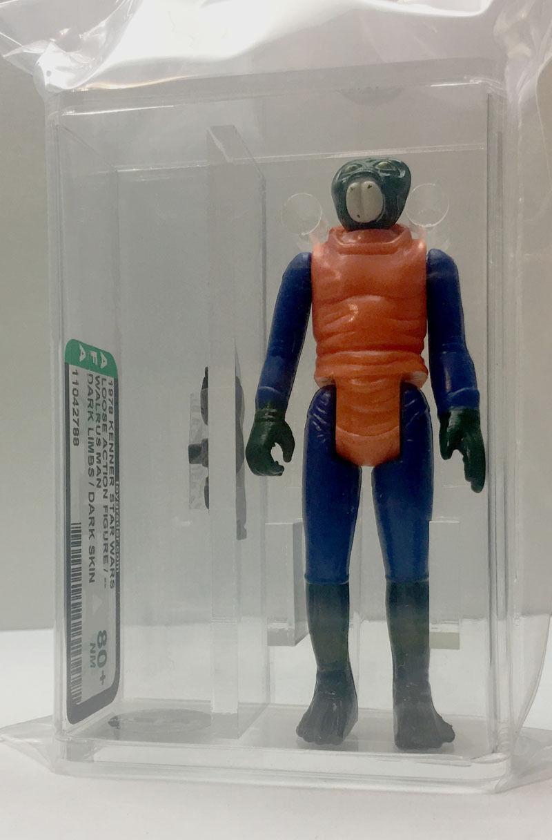 Kenner Star Wars Walrus Man Dark Limbs / Dark Dark Dark Skin No COO AFA 80+ loose vintage 469329