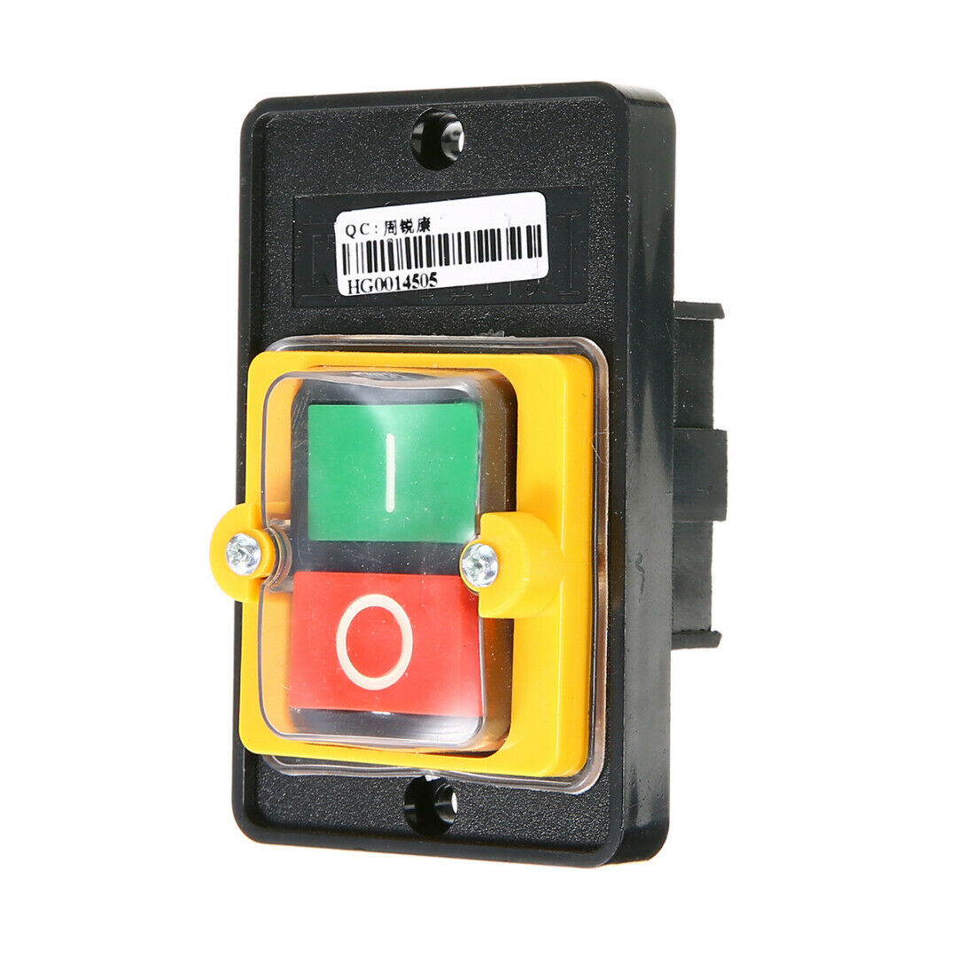1 Motor Water Proof Machine Drill Switch ON/OFF Push Button for 10A 380V KAO-5