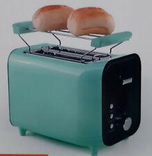 GOURMETmaxx 2-Scheiben Toaster Retro 800W Mint Brötchenaufsatz Vintage