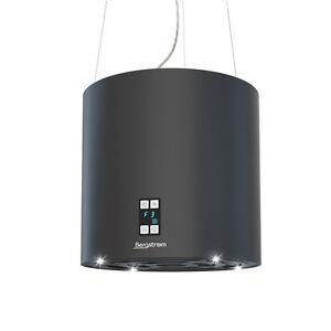 bergstroem inselhaube dunstabzugshaube edelstahl deckenhaube matt schwarz ebay. Black Bedroom Furniture Sets. Home Design Ideas