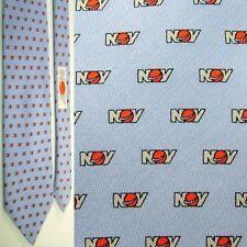 """XL 64"""" VINEYARD VINES NOV LOGO NATIONAL OILWELL VARCO BLUE SILK NECKTIE NECK TIE"""