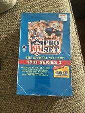 1991 NFL Pro Set Series 1 Unopened Blue Football Cards 36pcs