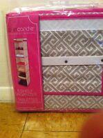 Closet Candie 6 Shelf Organizer- Pink Cream 12x12x48 Nip