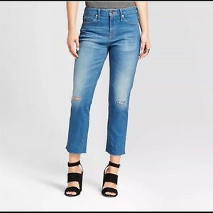 Mossimo-Denim-Womens-High-Rise-Power-Stretch-Straight-Leg-Crop-Jeans-Med-Wash