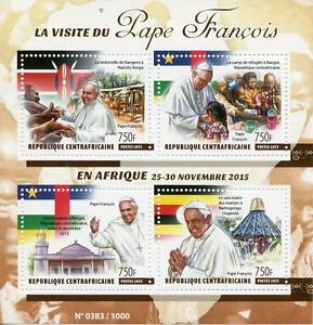 Central-African-Republic-2015-MNH-Pope-Francis-Visits-Africa-4v-M-S-Mosques