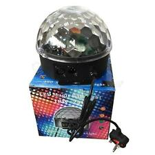 Disco Party Remote Control Crystal Ball Magic LED Stage Lighting MP3 DJ Club Pub
