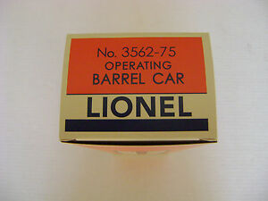 Lionel-3562-75-AT-amp-SF-Operating-Orange-Barrel-Car-Licensed-Box