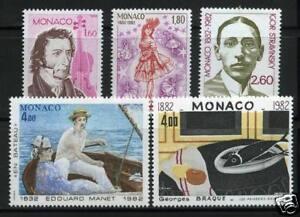 MONACO-TIMBRES-1344-1348-NEUF-XX-LUXE