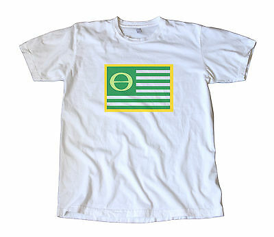 Vintage Ecology Flag T-Shirt - Green, Activist, Renewable, Save the Planet Earth