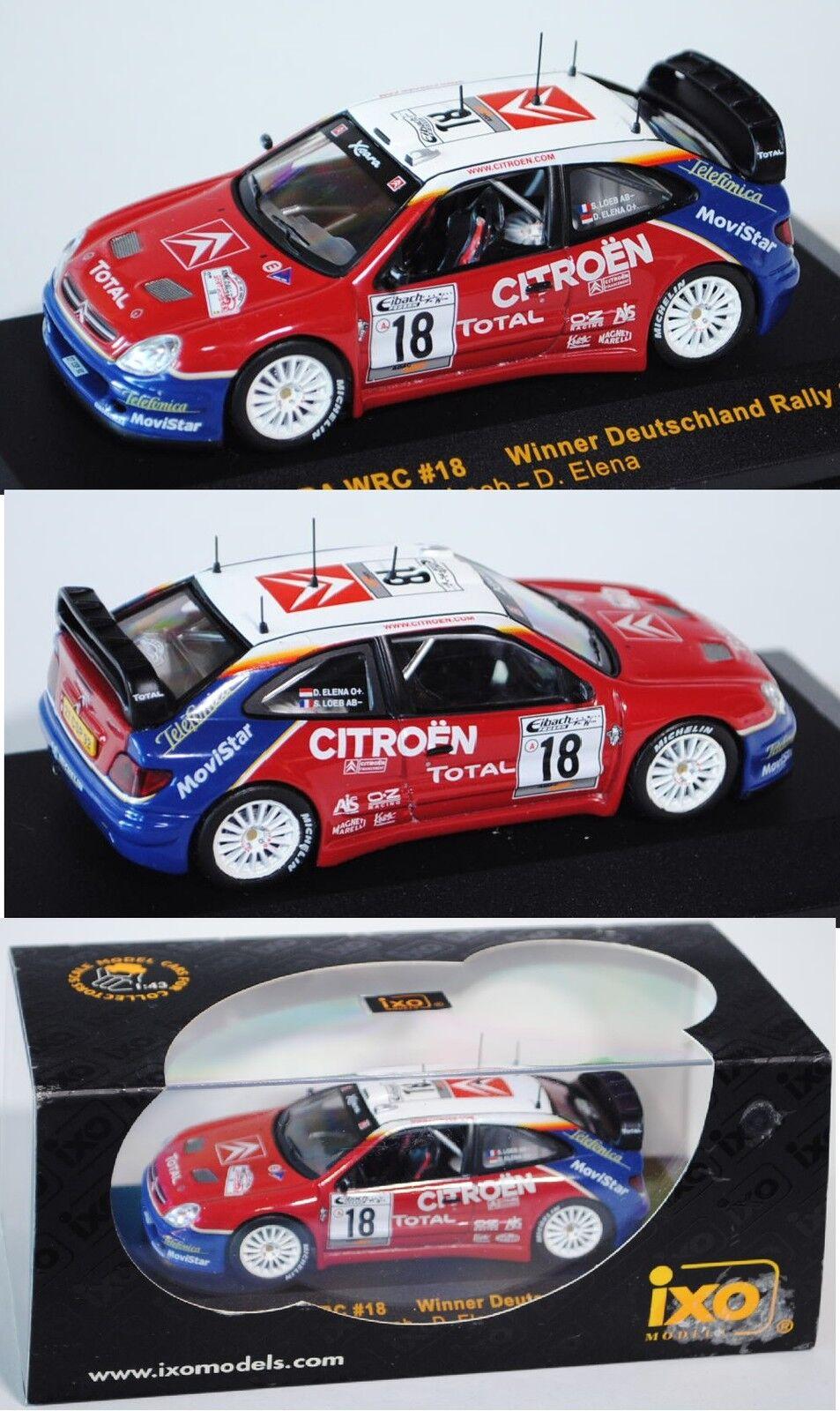 IXO RAM120 Citroen Xsara Xsara Xsara WRC 2003  Deutschland Rallye 2003 Loeb   Elena 1 43 OVP 842f02