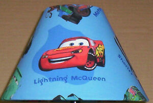 ... DISNEY CARS FABRIC LAMP SHADE Lampshade ONLY LIGHTNING