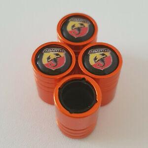 FIAT-ABARTH-Arancione-Valvola-Polvere-Tappi-tutti-i-modelli-13-colori-chiedere-ANTIADERENTE-500