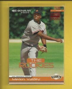 Merkin Valdez RC 2005 Donruss Press Proof RED Rookie Card # 40 ser #'d / 200 MLB