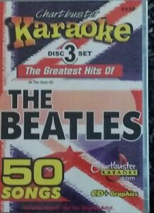 Musical Instruments & Gear The Beatles 3 Cdg Set Chartbuster Hits Karaoke 50 Songs Cd+g Yellow Sub 5132 Karaoke Entertainment
