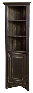Amish Rustic Primitive Corner Cabinet Farmhouse Cottage Cupboard Distressed Wood