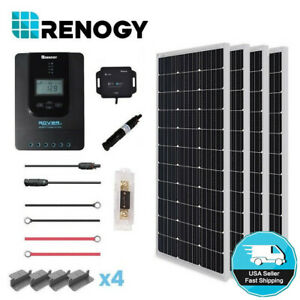 Renogy-400W-Mono-Solar-Panel-Kit-40A-MPPT-Rover-Controller-Off-Grid-System-Home