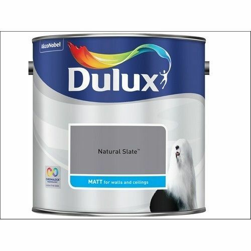 Dulux Smooth Emulsion Matt Paint - Natural Slate - 2.5L - Walls and Ceiling