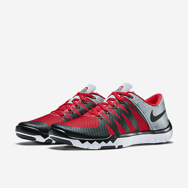 best authentic 15fa7 5a6ae Nike Free Trainer 5.0 V6 AMP Men's Wolf Grey/Black/Red Training Shoes  723939 006