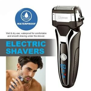 Cordless-Electric-Rechargeable-Mens-Foil-Shaver-Trimmer-Wet-Dry-Razor-Waterproof