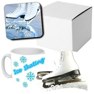 Ice Skating Gifts Hobbies Hit The Ice Coffee Mug Wood Coaster Gifts Ebay