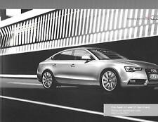 AUDI A5 & S5 SPORTBACK ILLUSTRATED PRICES/SPECIFICATION SALES BROCHURE MAY 2013