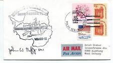 1983 USCGC Polar Sea WAGB-11 Deep Freeze Antarctic Arctic Air Mail Cover SIGNED