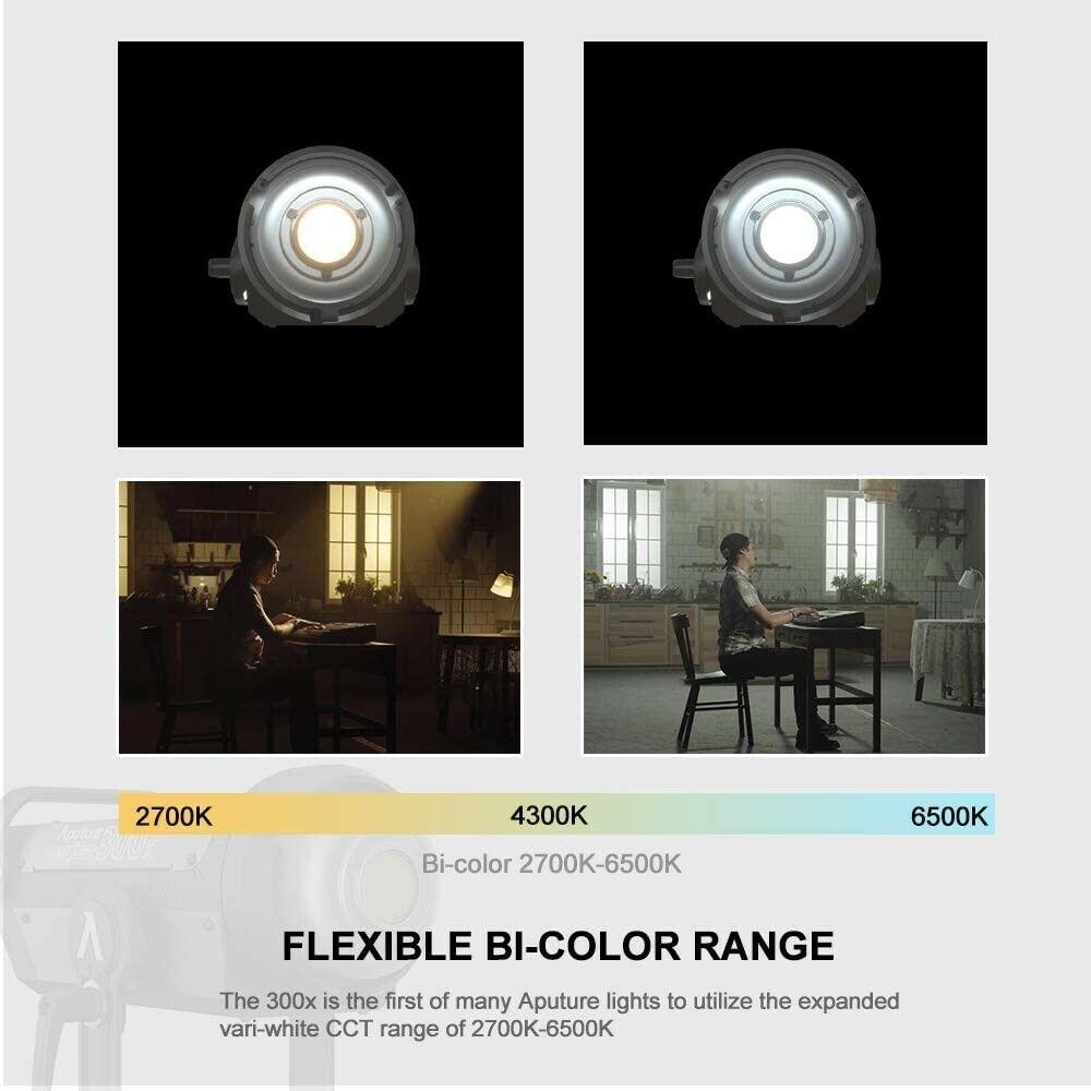 Aputure LS 300X Bi-color 350W LED Video Light Kit + 35