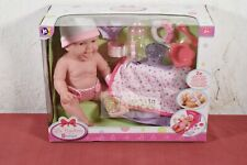 New Berenguer 13 Inch La Newborn 18378 Happy Baby Doll With Carry Me Gift set