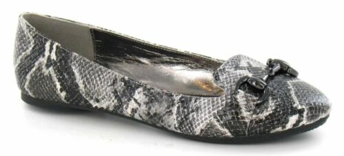 SPOT ON F8R782 LADIES SNAKE EFFECT SHOES