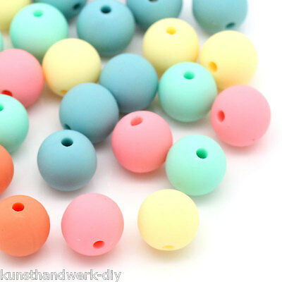 10 Acrylperlen Oval Beads Kunststoffperlen Spacer Blumen 1.4x1cm L//P