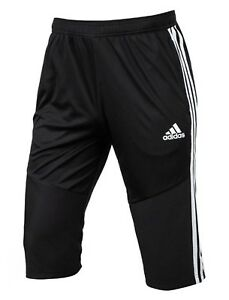 Adidas-Men-TIRO-19-Training-3-4-Pants-Black-Capri-Running-Jogger-GYM-Pant-D95948
