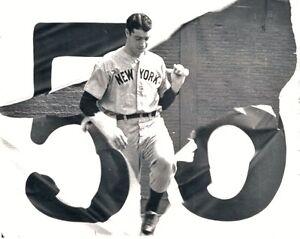 Joe Dimaggio Yankees 56 Game Streak Dollar Bill Baseball Collectible with Case