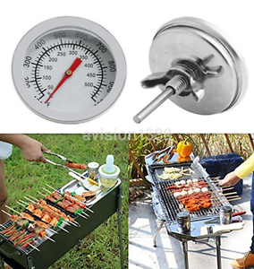 Hot-Barbecue-BBQ-Smoker-Grill-Stainless-Steel-Thermometer-Temperature-Gauge-UK