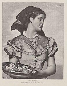 Fisch-Fischhandel-Austern-Verkaeuferin-Holzstich-um-1895