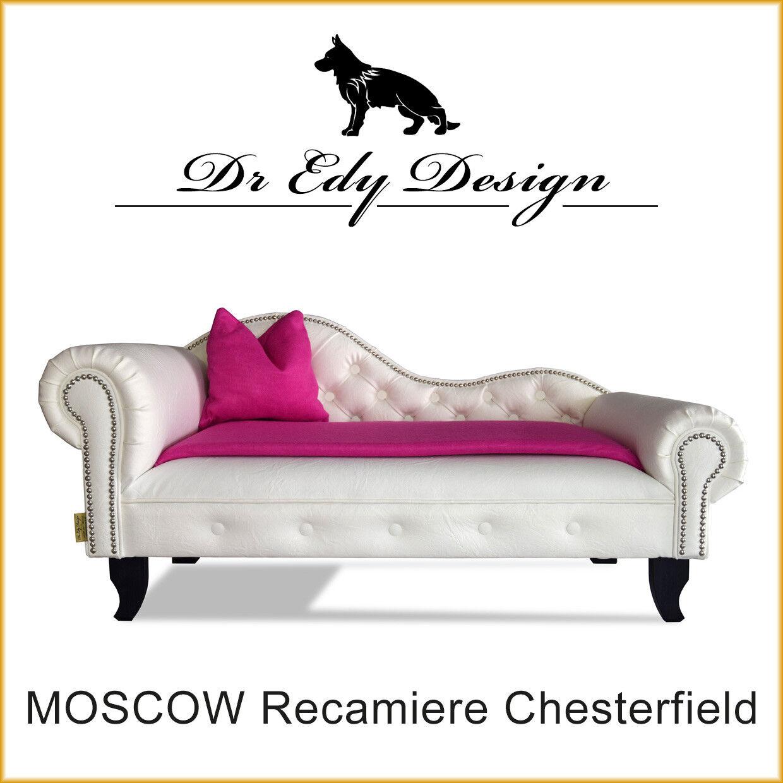Hundesofa Chesterfield Recamiere MOSCOW XXL Hundebett Chaiselongues mit Decke