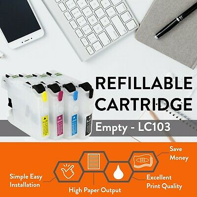Empty Refillable Printhead Cleaning Cartridges for Brother LC103 MFC-J870DW J875