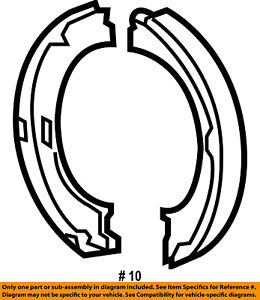 jeep chrysler oem 05 10 grand cherokee parking brake shoes 5086930ac 85 to 05 Jeep Grand Cherokee image is loading jeep chrysler oem 05 10 grand cherokee parking