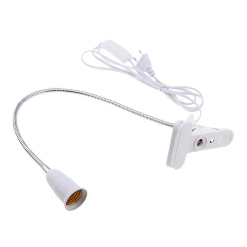 Schreibtisch Lampenfassung Halter E27 Flexibel 360 Grad 50cm Schwanenhals LED