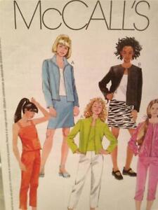 McCalls-Sewing-Pattern-3135-Girls-Skirt-Jacket-Top-Pants-Size-7-10-Uncut